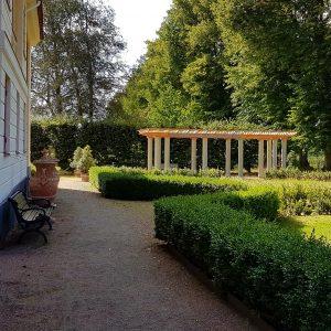 Den nybyggda Pergolan i Fricks Trädgård